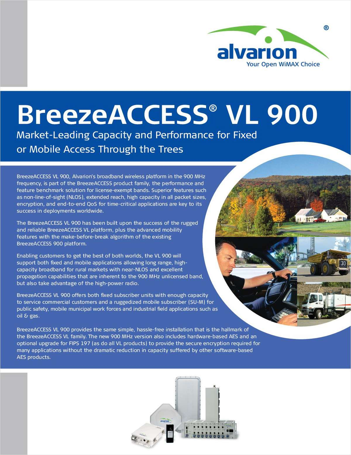 BreezeACCESS® VL 900 - The New Benchmark in 900 MHz