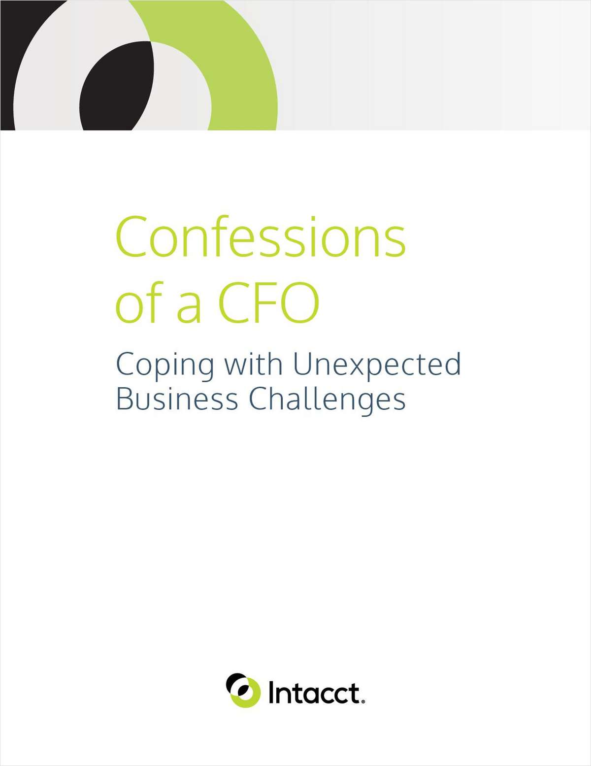 Confessions of a CFO: Coping with Unexpected Business