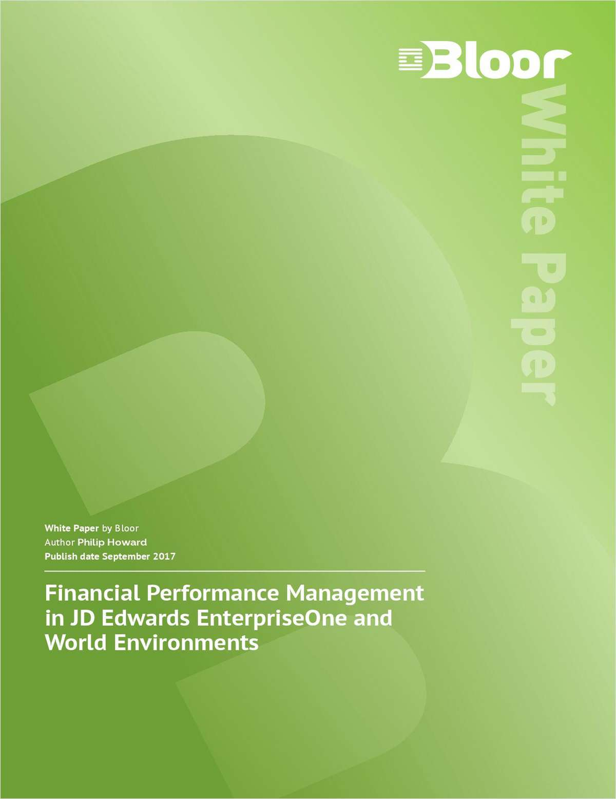 Performance Management in JD Edwards EnterpriseOne and World