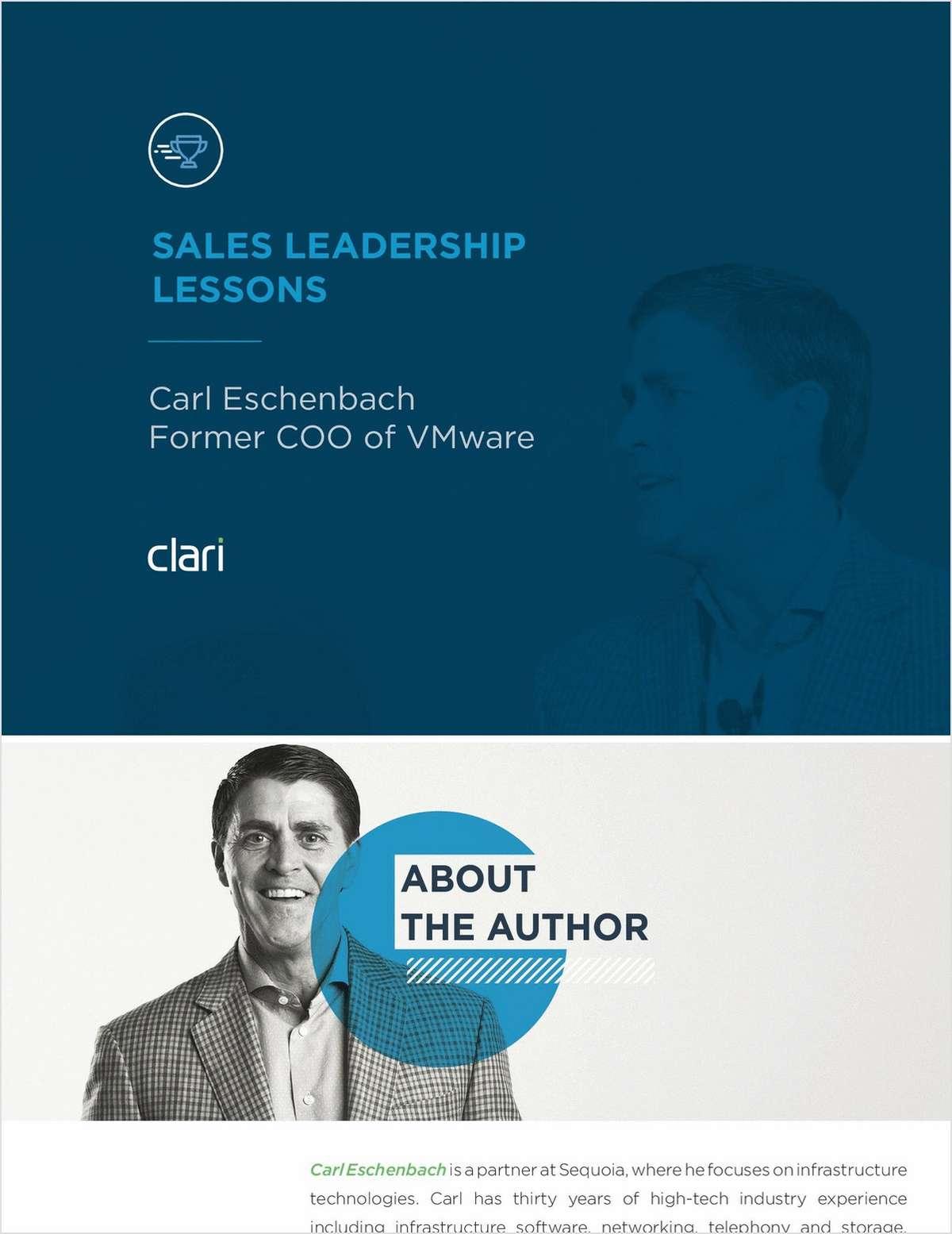 Sales Leadership Lessons