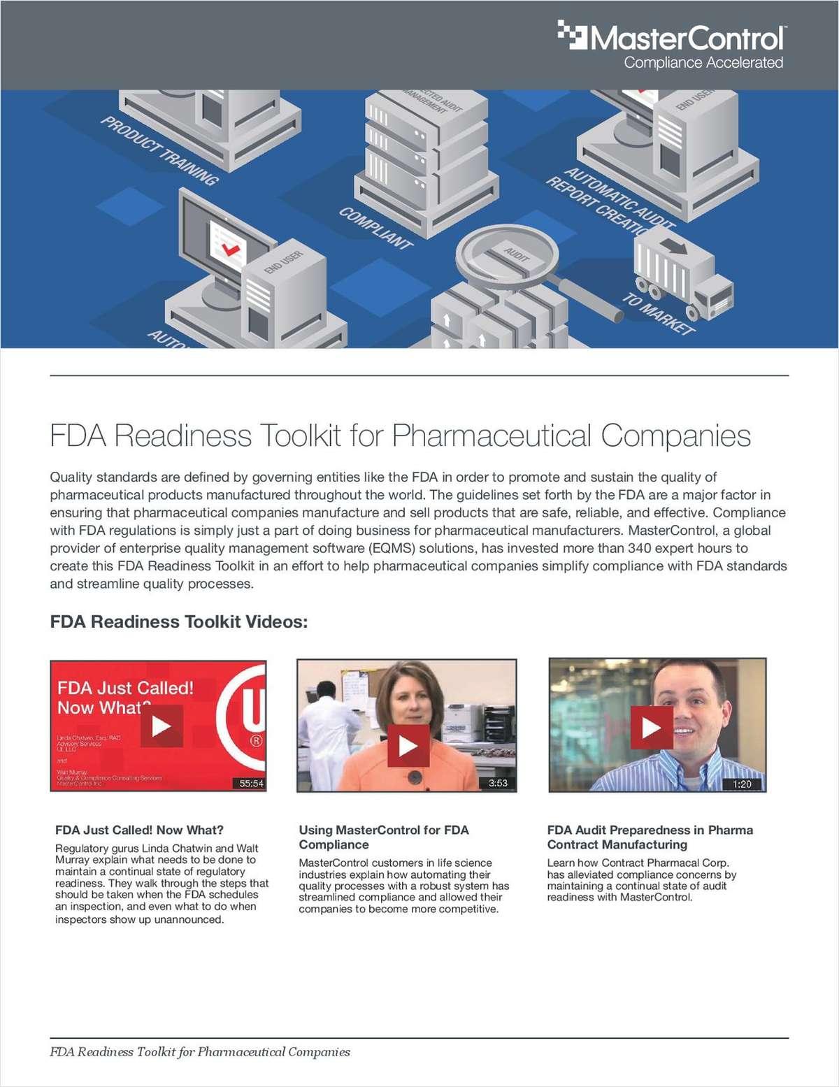 FDA Readiness Toolkit for Pharmaceutical Companies