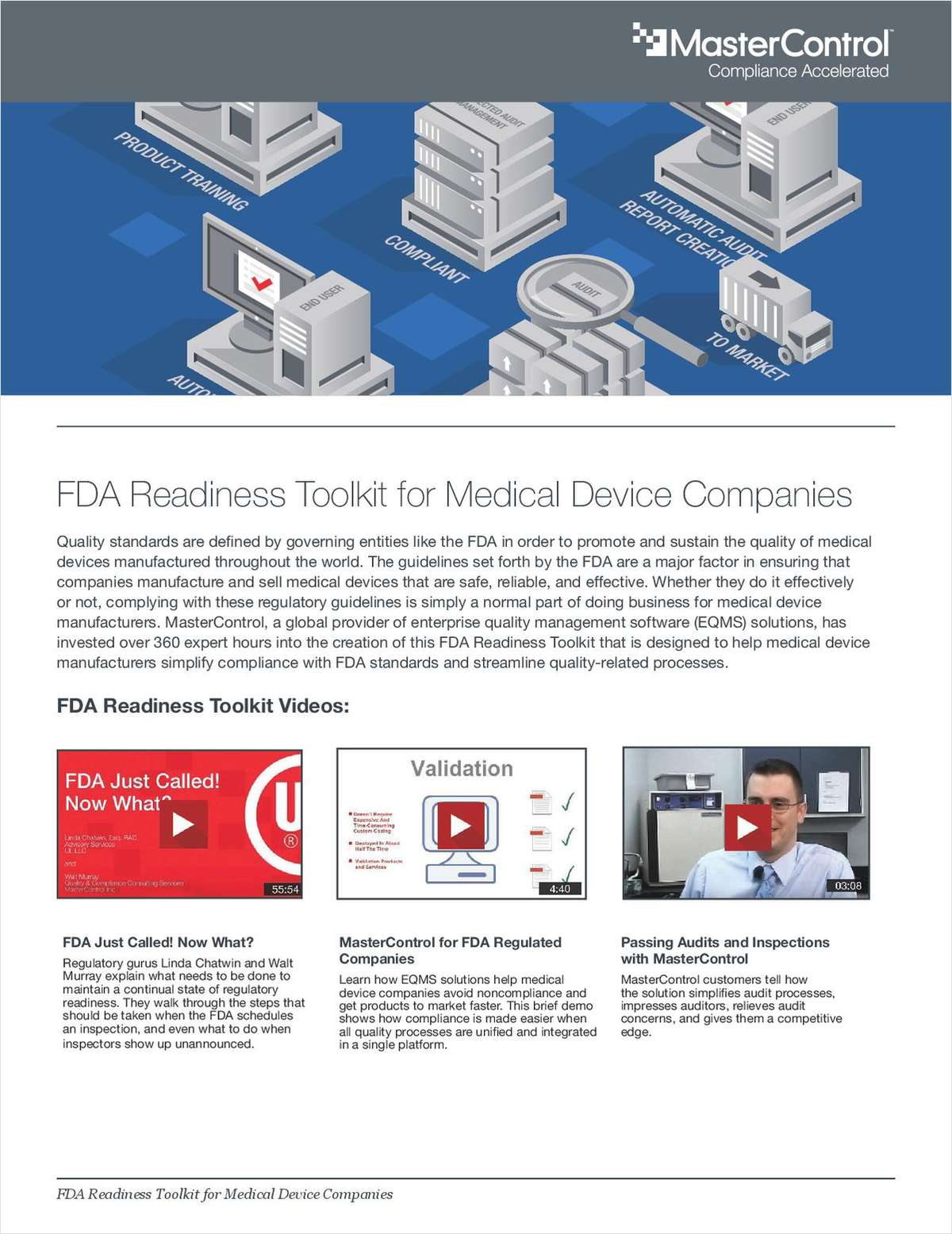 FDA Readiness Toolkit for Medical Device Companies