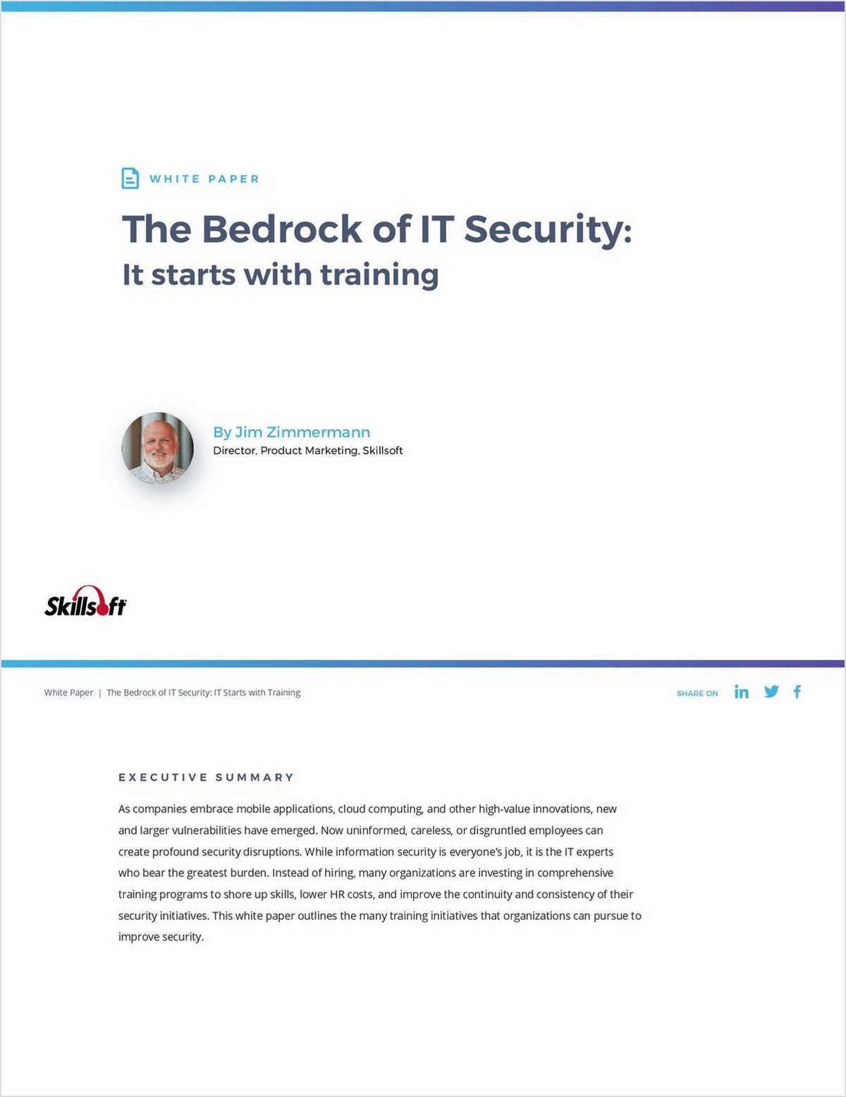 The Bedrock of IT Security: It Starts With Training