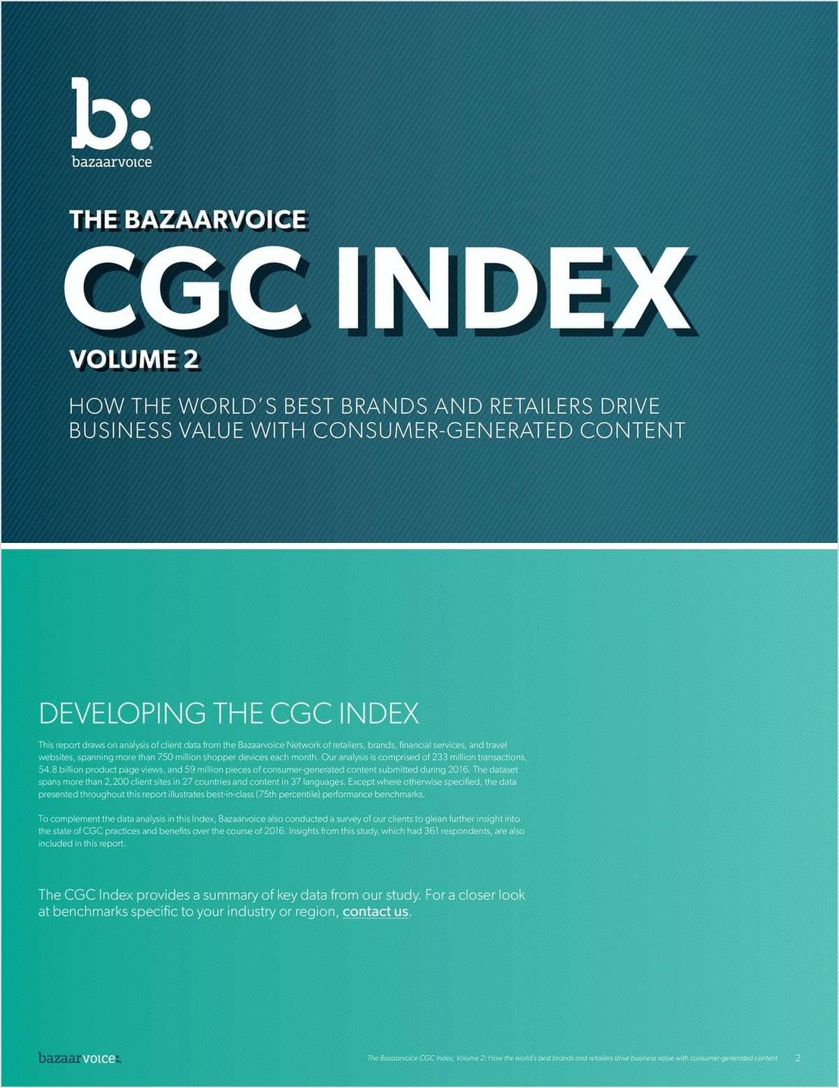 The Bazaarvoice CGC Index Volume 2