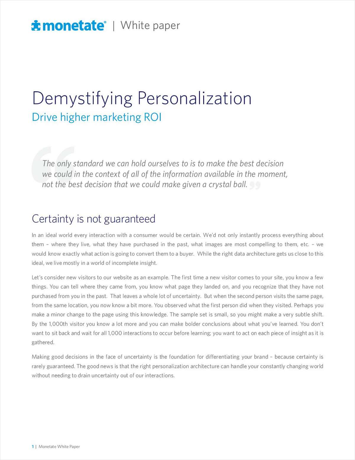 Demystifying Personalization