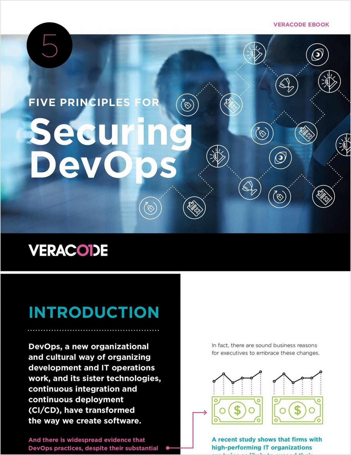 Five Principles for Securing DevOps