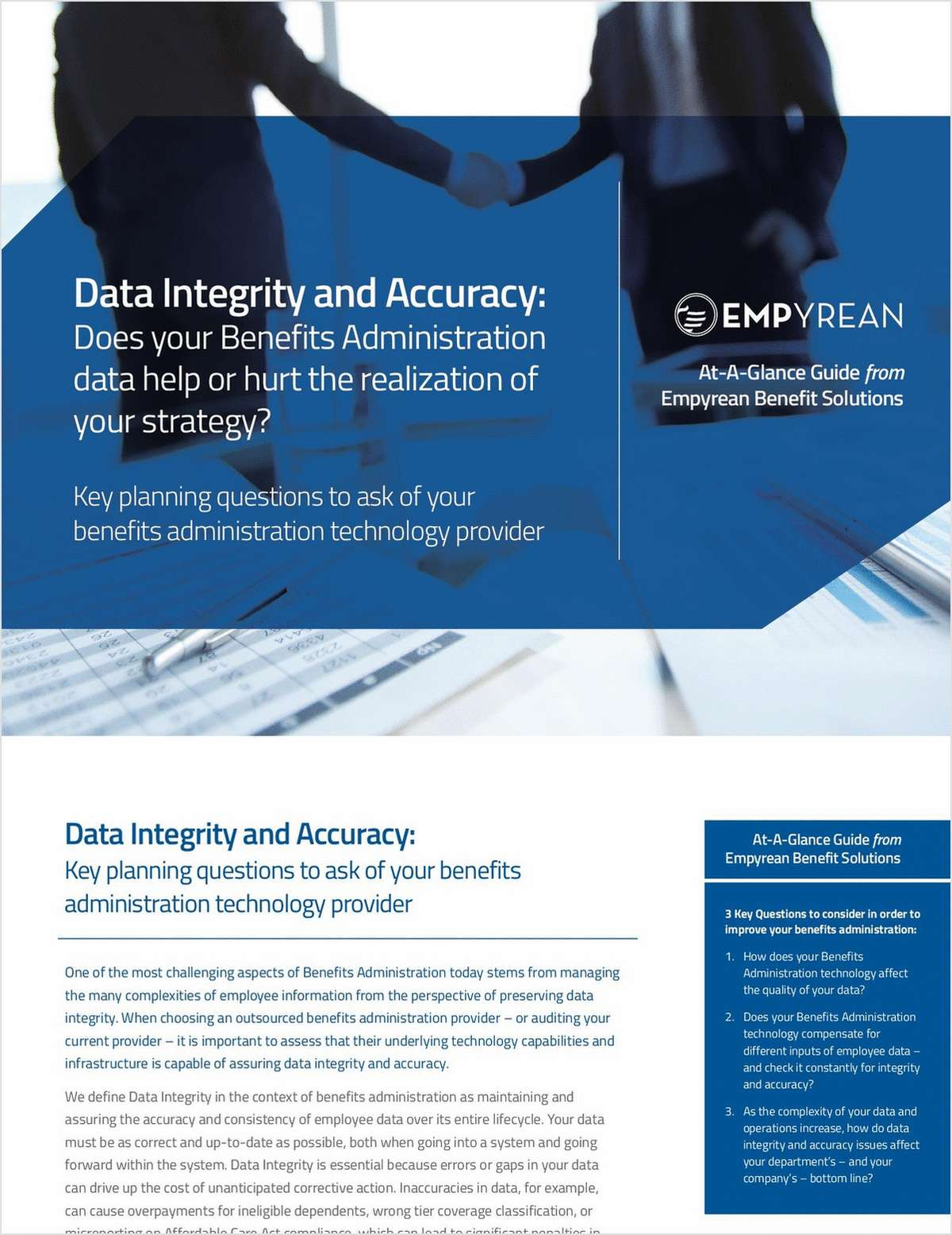 Data Integrity and Accuracy: Does Your Benefits Administration Data Help or Hurt the Realization of Your Strategy?