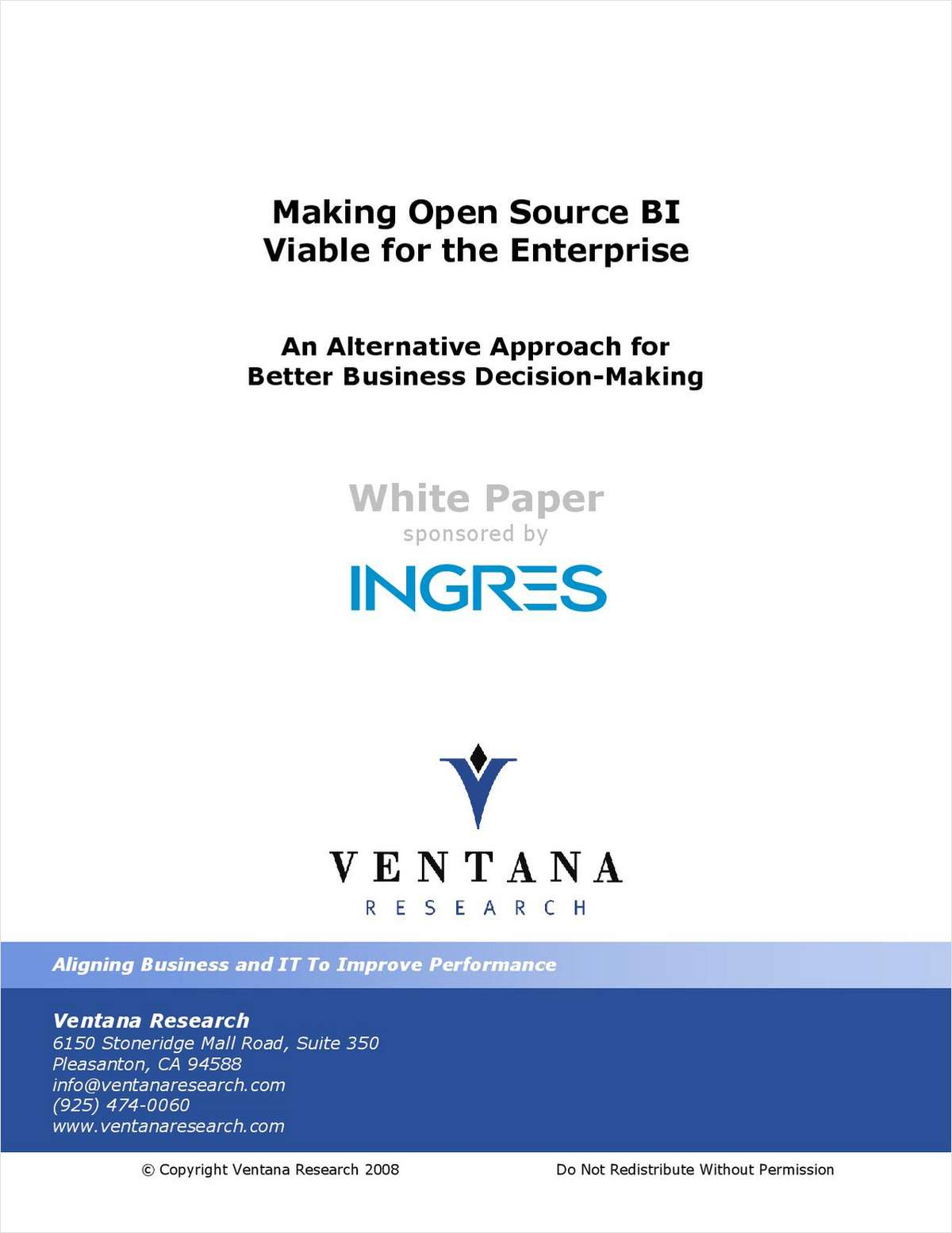 Making Open Source BI Viable for the Enterprise