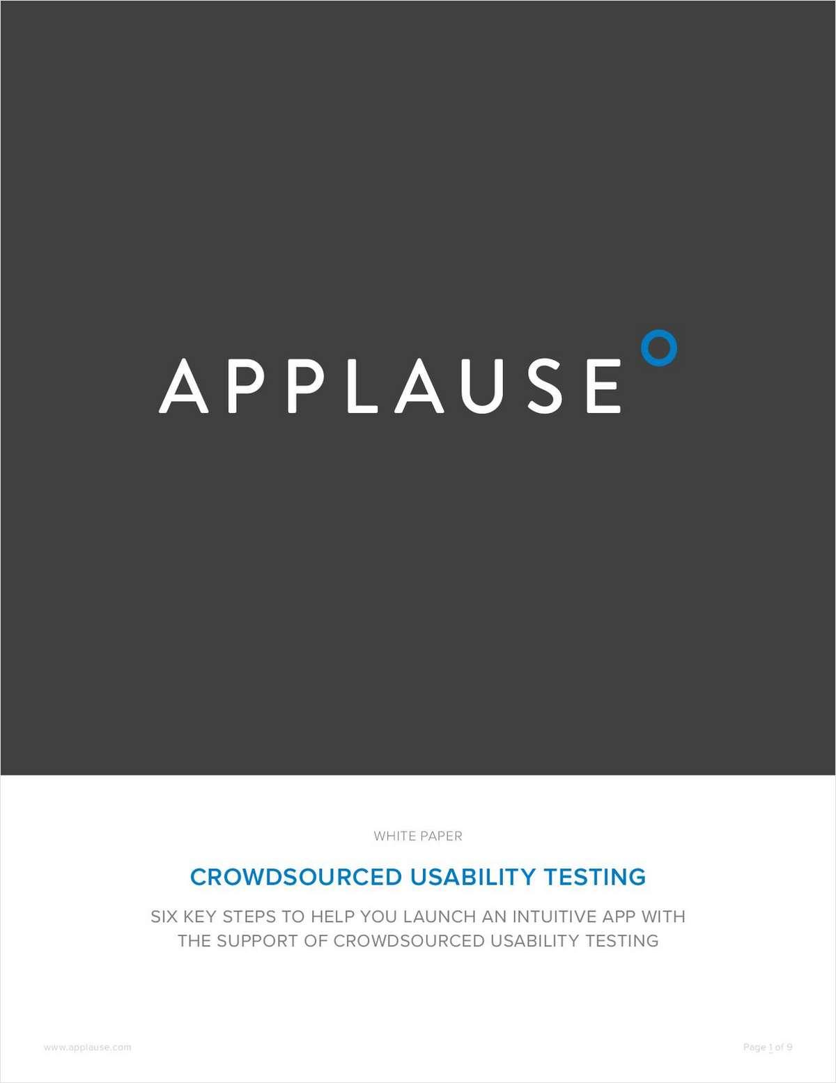 Crowdsourced Usability Testing
