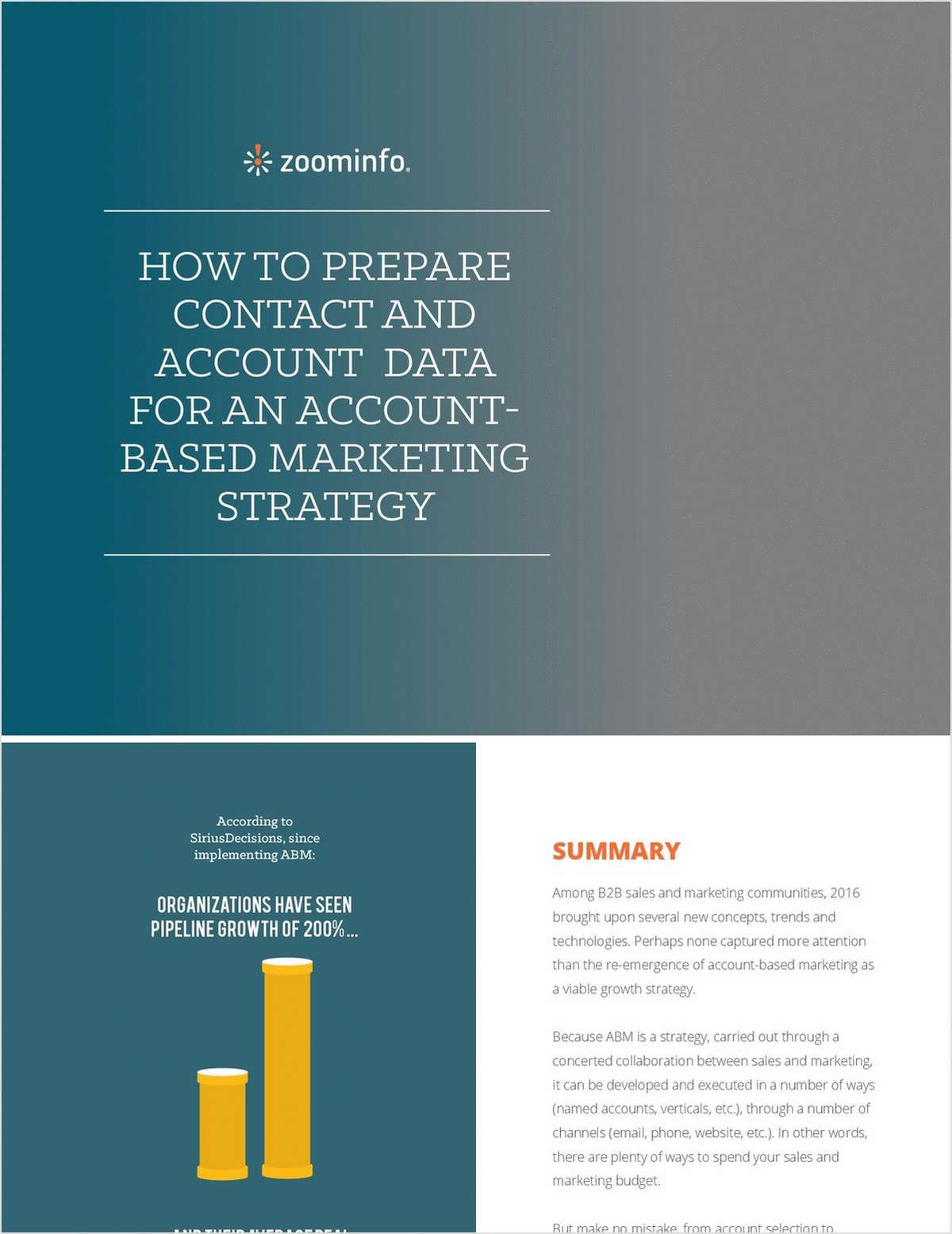 How to Prepare Contact & Account for an Account-Based Marketing Strategy