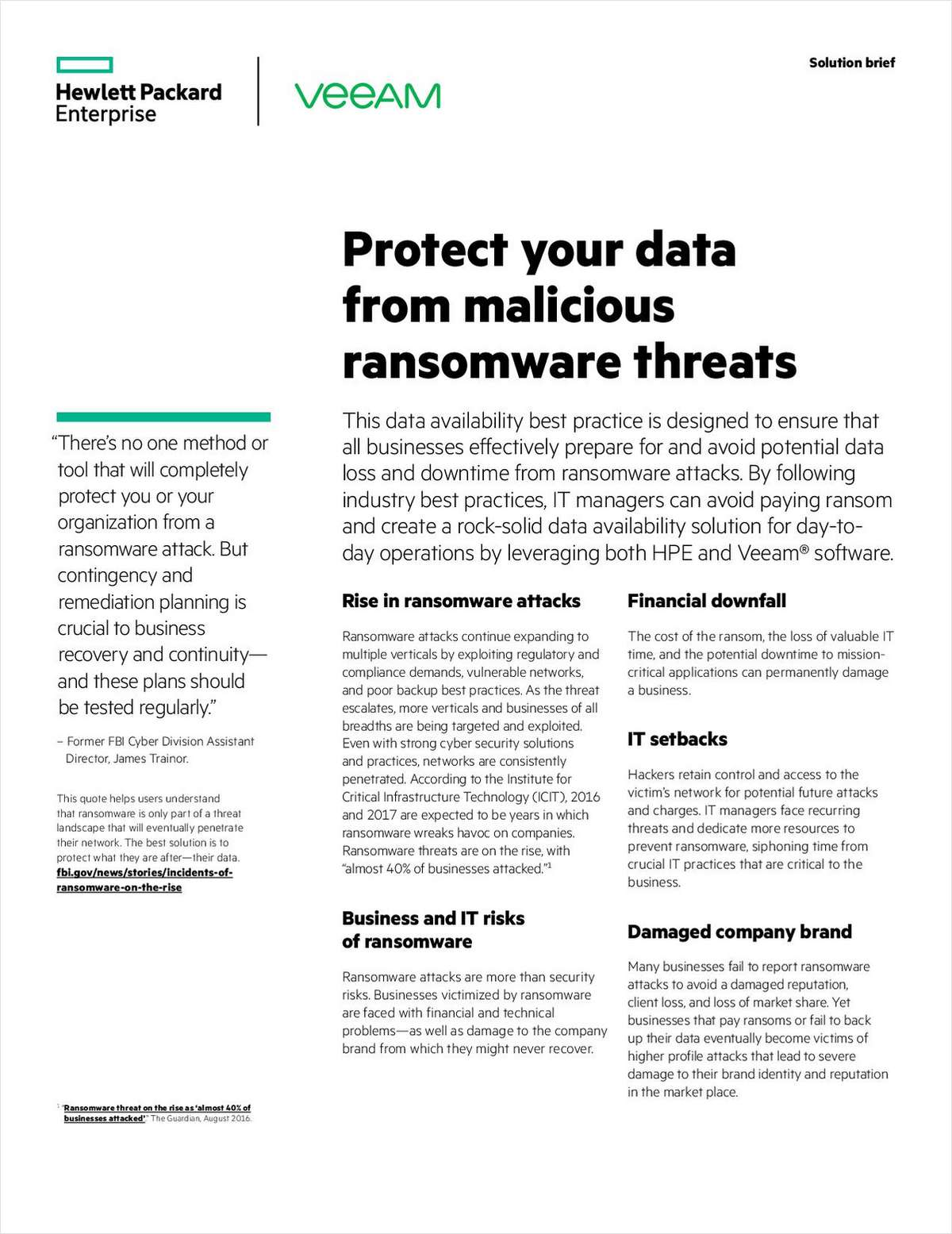 Protect Your Data from Malicious Ransomeware Threats