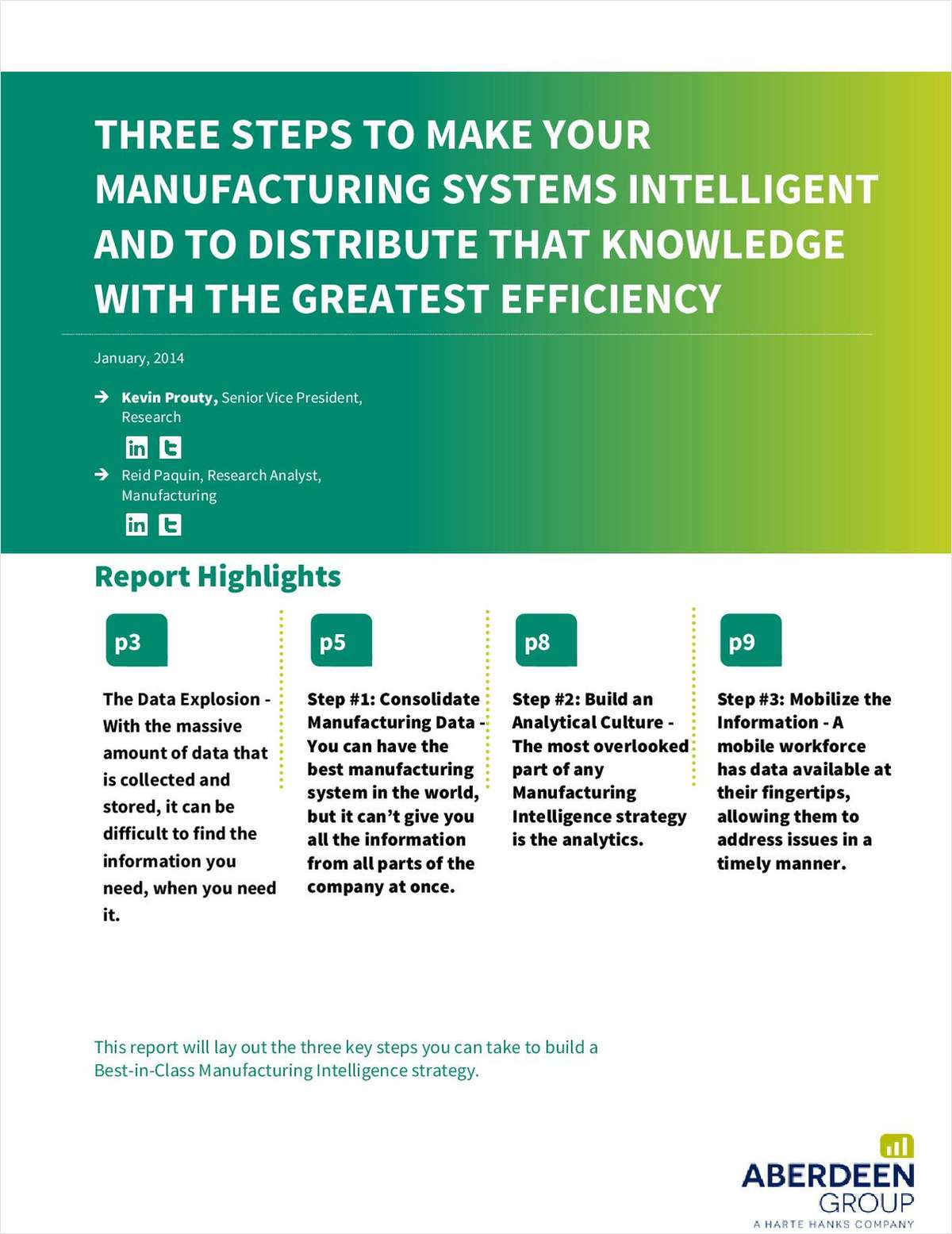 How to Build a Manufacturing Intelligence Strategy