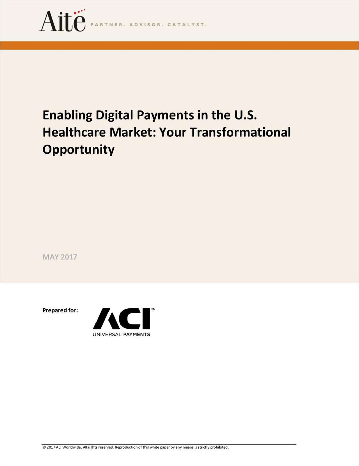 Enabling Digital Payments in the U.S. Healthcare Market
