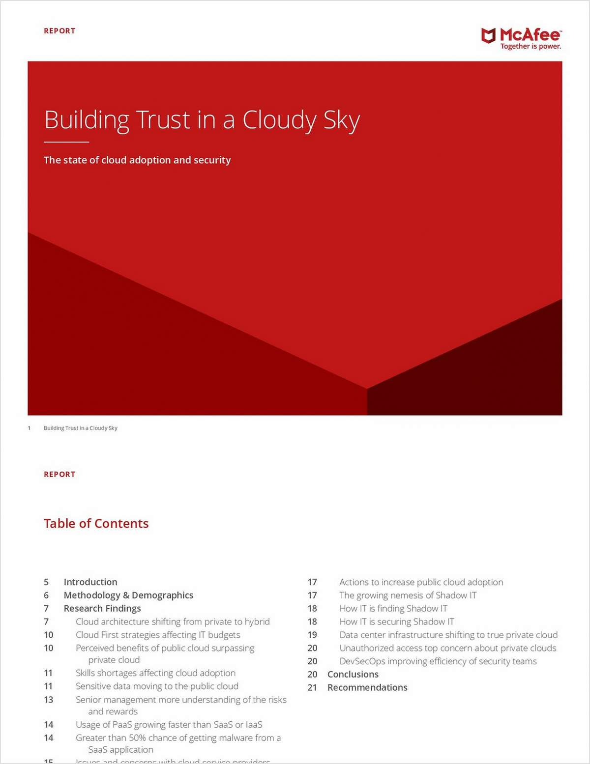 Building Trust in a Cloudy Sky