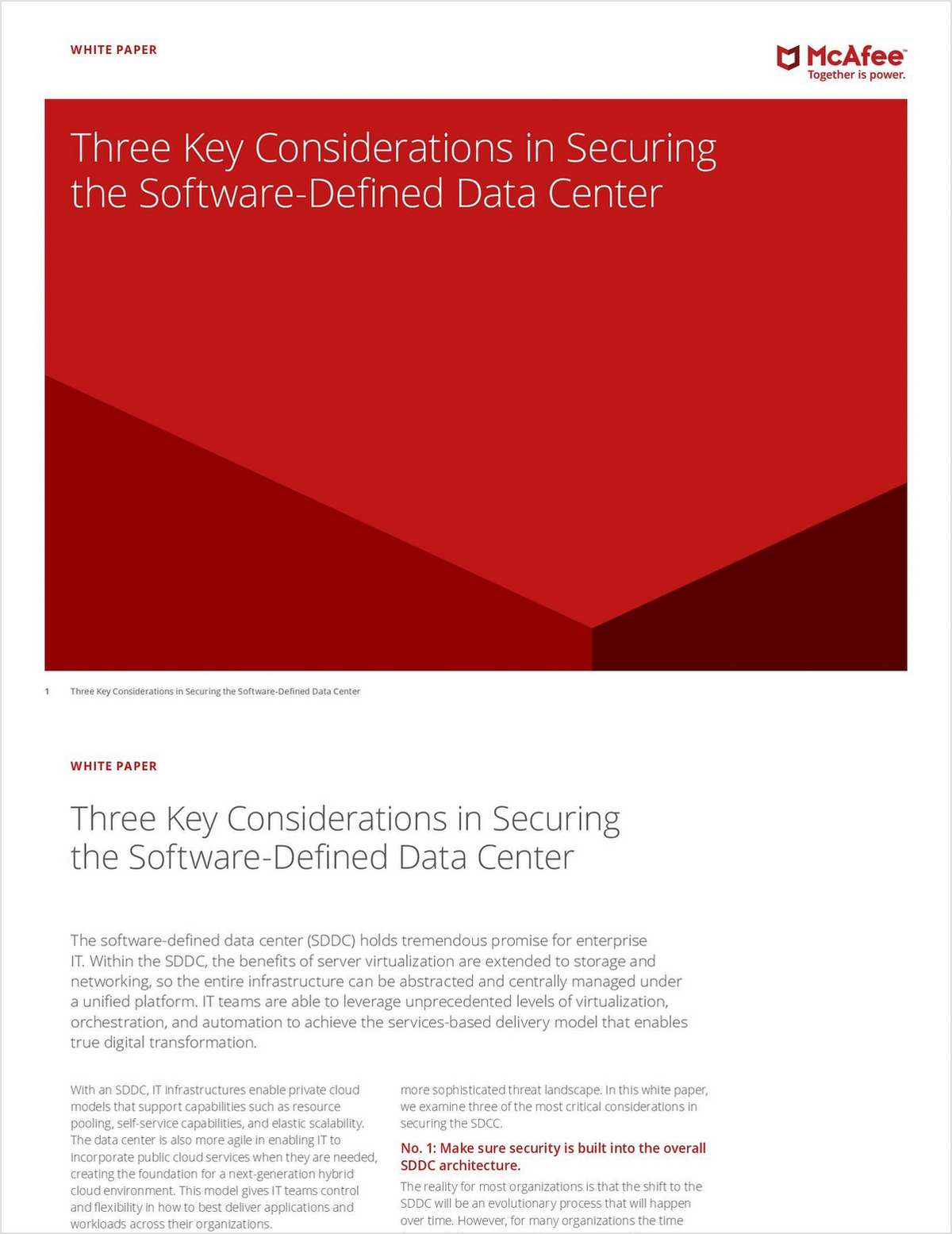 Three Key Considerations in Securing the Software-Defined Data Center