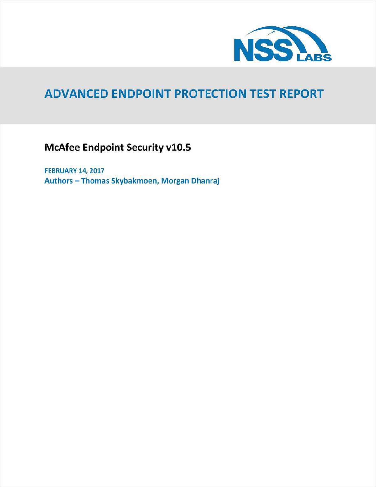 NSS Labs Advanced Endpoint Protection Test Report