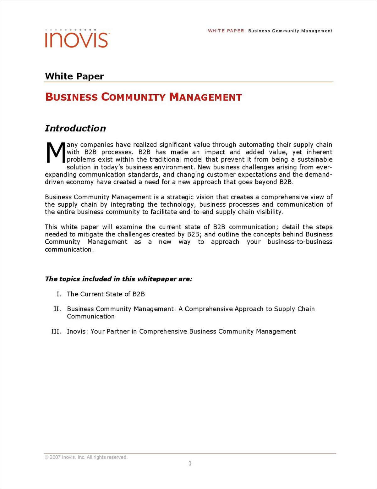 Business Community Management