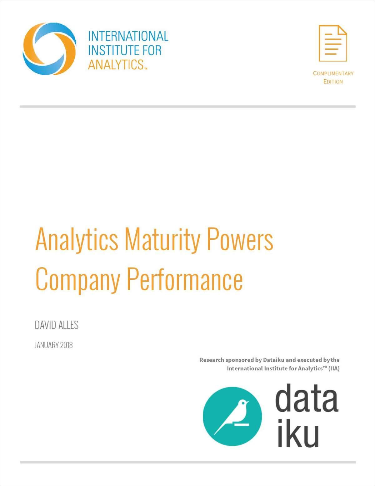 Analytics Maturity Powers Company Performance