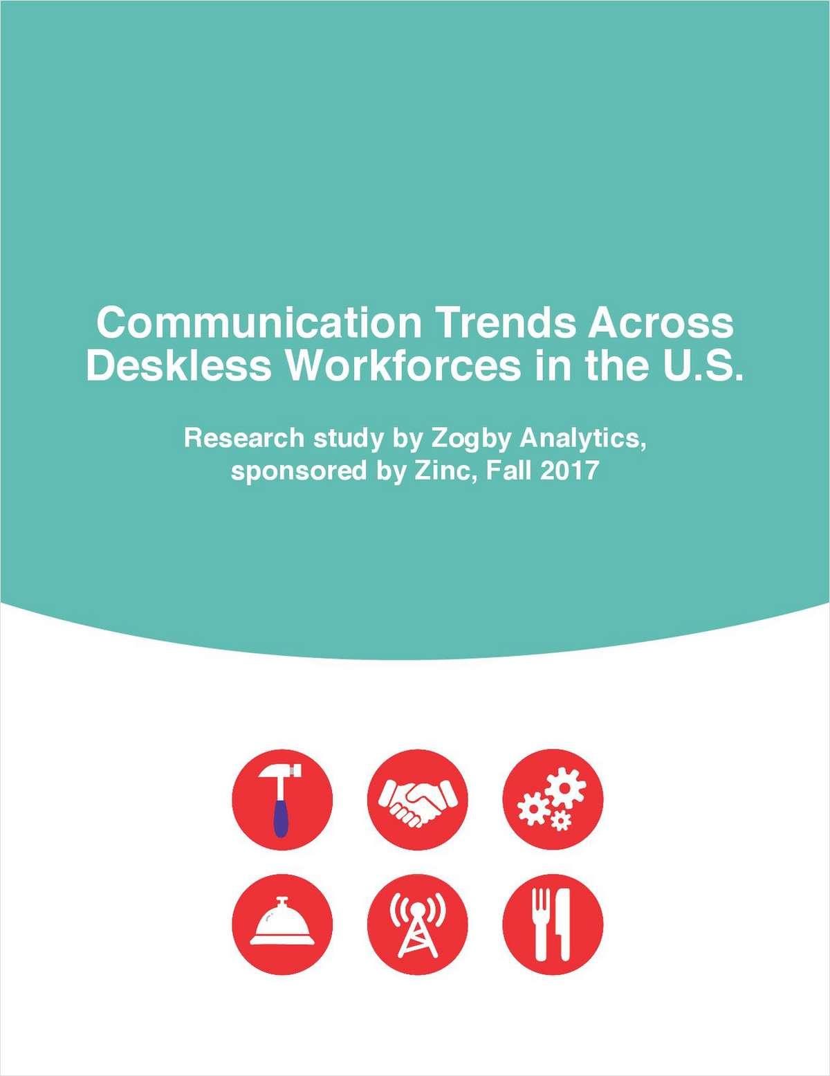 Communication Trends Across Deskless Workforces in the U.S.