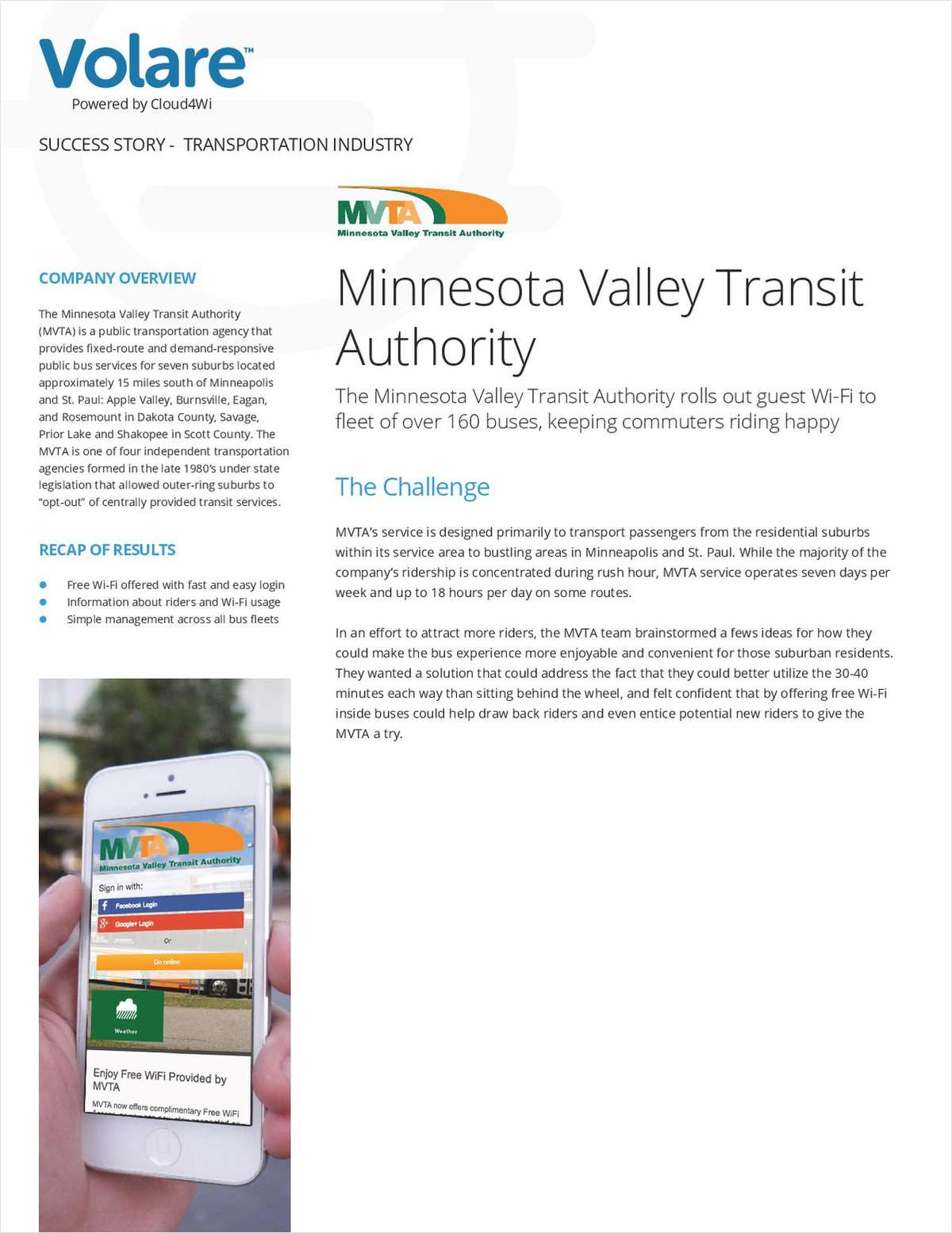 WiFi On-the-Go: MVTA Success Story