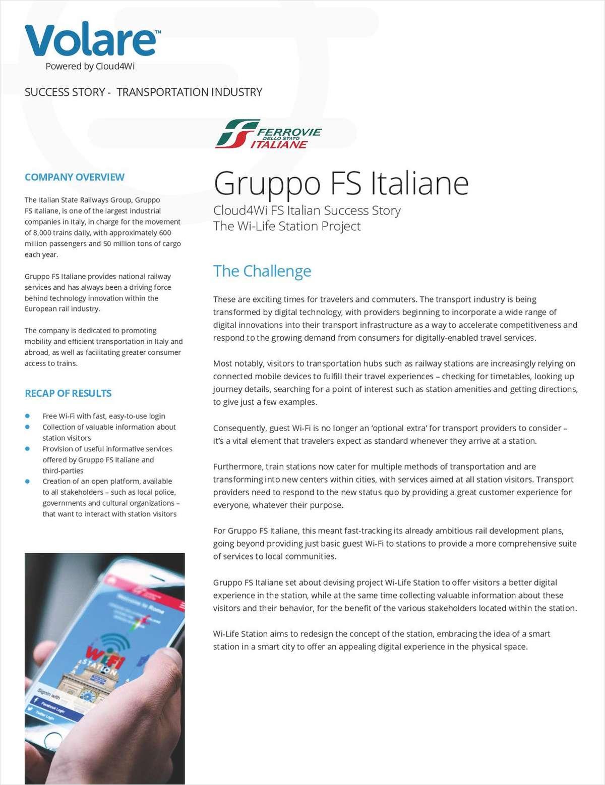 Free Traveler WiFi: Gruppo FS Italiane Success Story