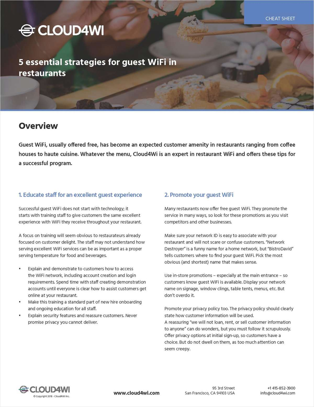 5 Essential Strategies for Guest WiFi in Restaurants