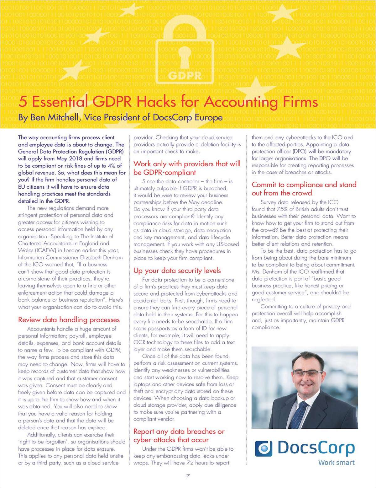 5 Essential GDPR Hacks for Accounting Firms