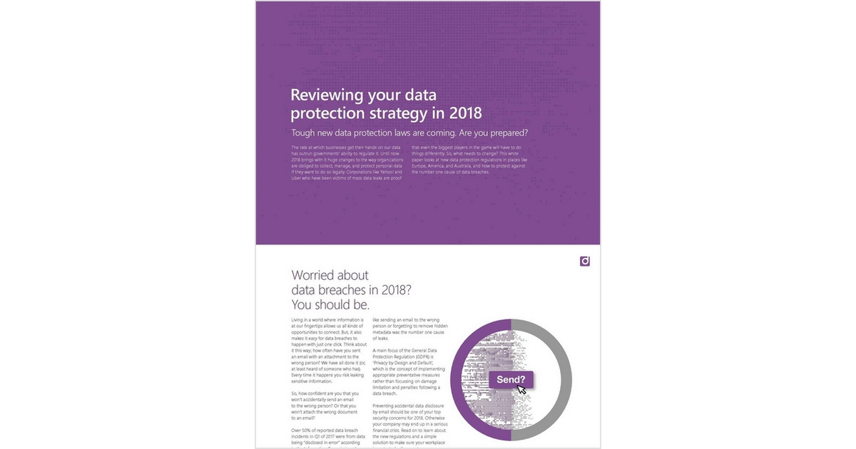 Reviewing Your Data Protection Strategy in 2018 Free White Paper