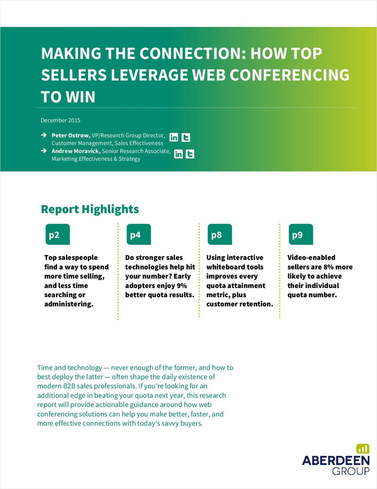 How Top Sellers Leverage Web Conferencing to Win