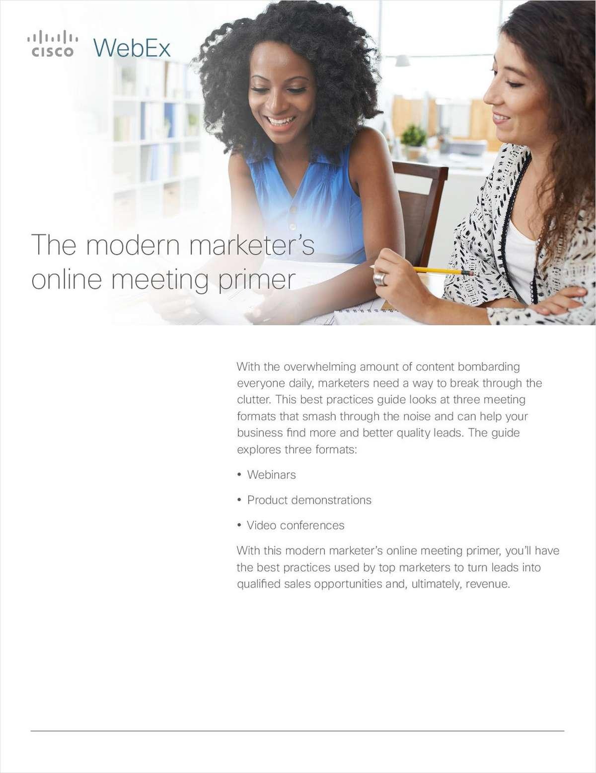 The Modern Marketer's Online Meeting Primer