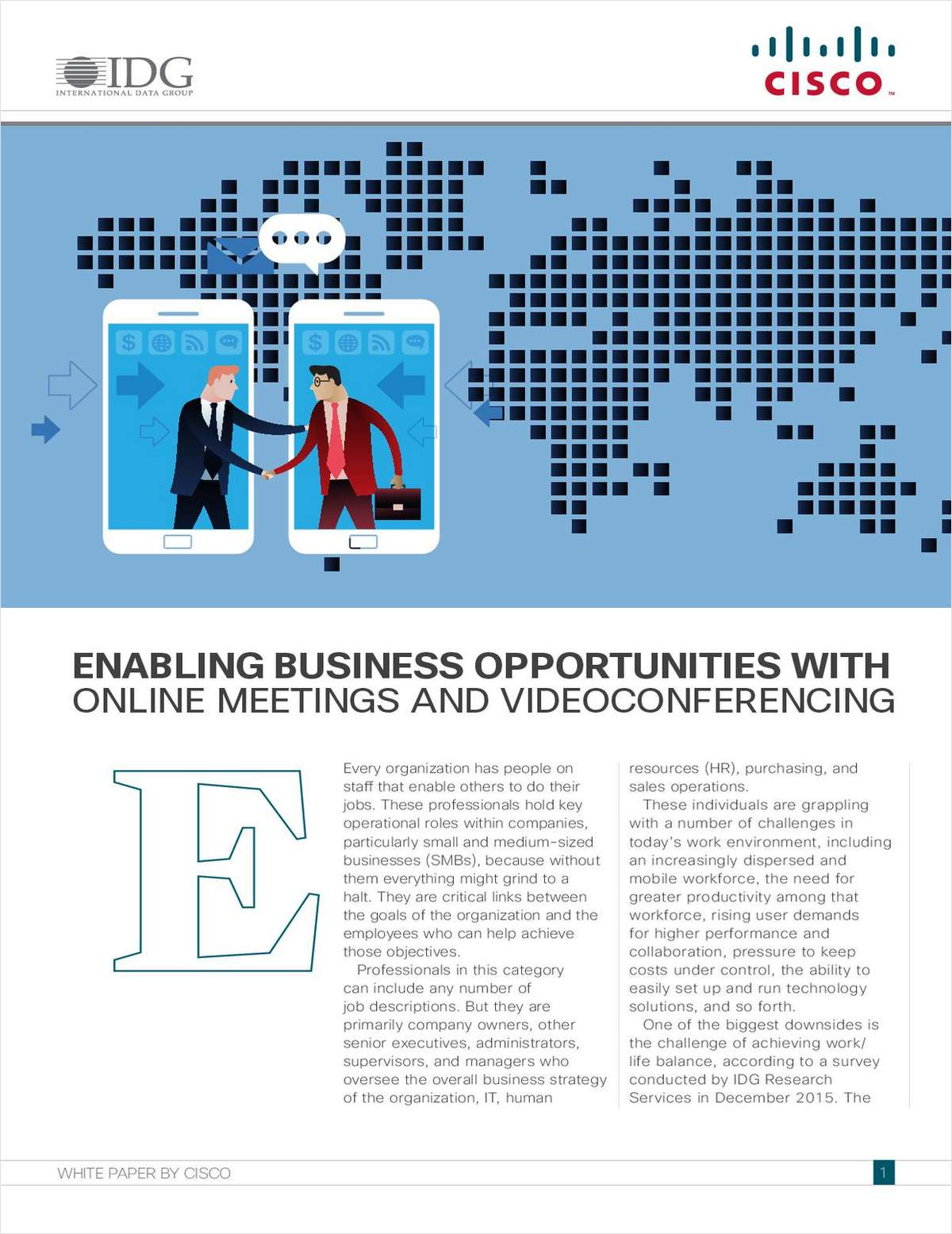 Enabling Business Opportunities with Online Meetings and Videoconferencing