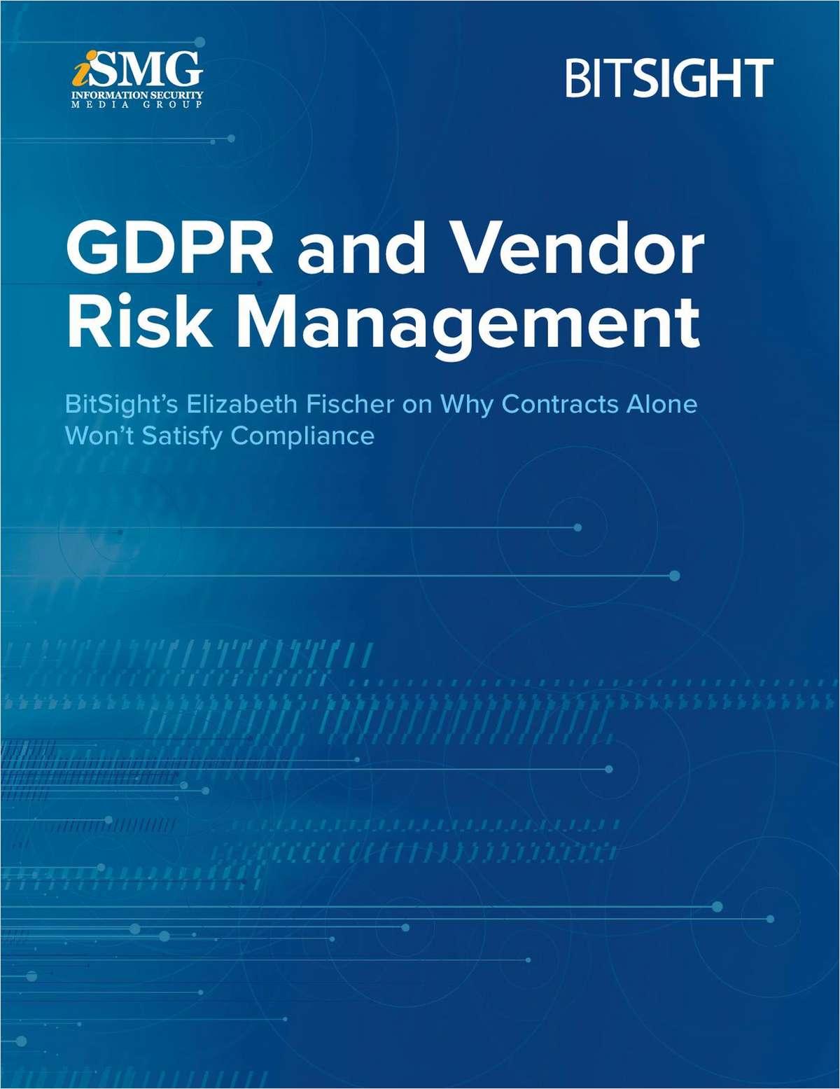 GDPR and Vendor Risk Management