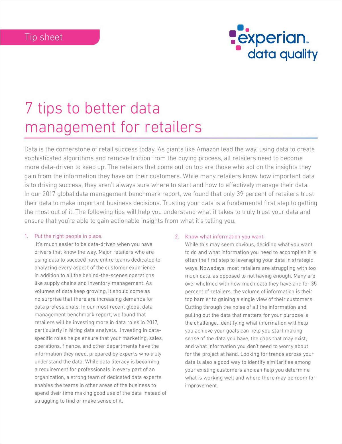 7 tips to better data management for retailers
