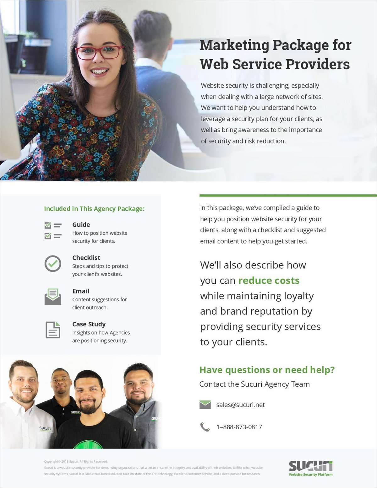 The Marketing Package for Web Service Providers