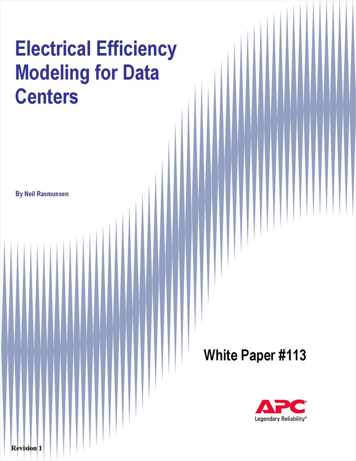 Electrical Efficiency Modeling for Data Centers