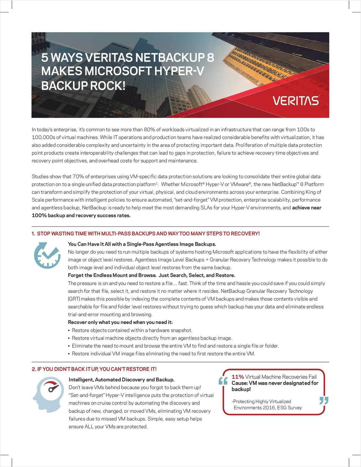 5 Ways Veritas NetBackup 8 Makes Microsoft Hyper-V Backup Rock!