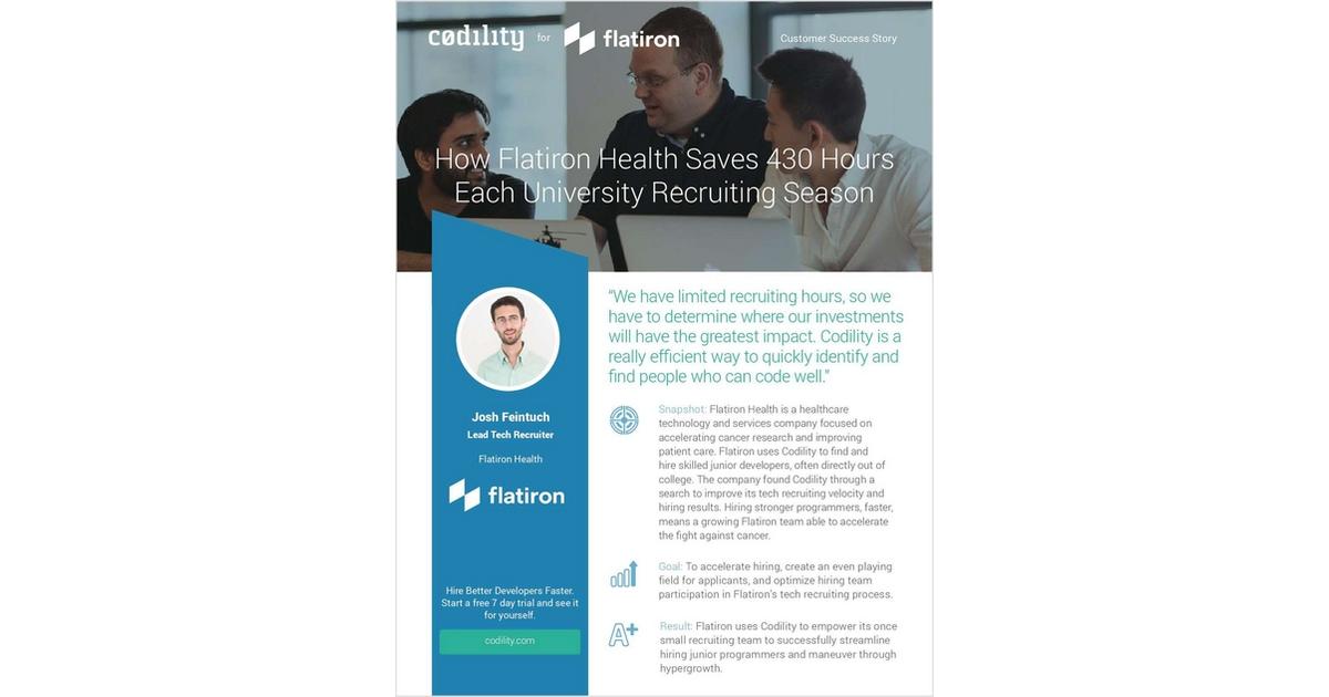 How Flatiron Health Saves 430 Hours Each University