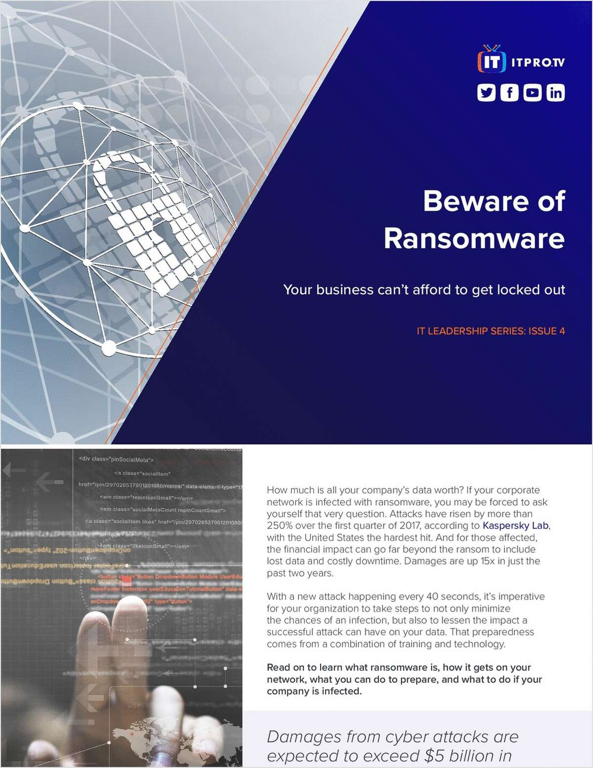 Beware of Ransomware - Your Business Can't Afford to Get Locked Out