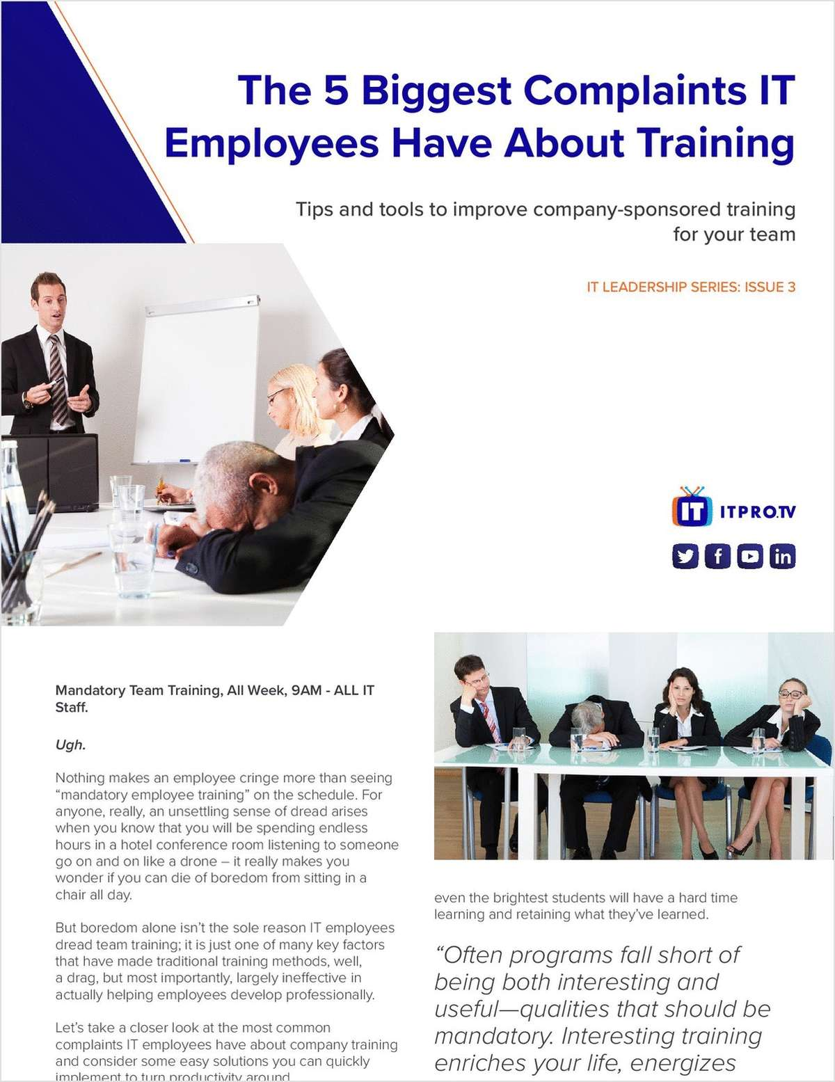 The 5 Biggest Complaints Employees Have About Training: Tips and Tools to Improve Company-sponsored Training for Your Team