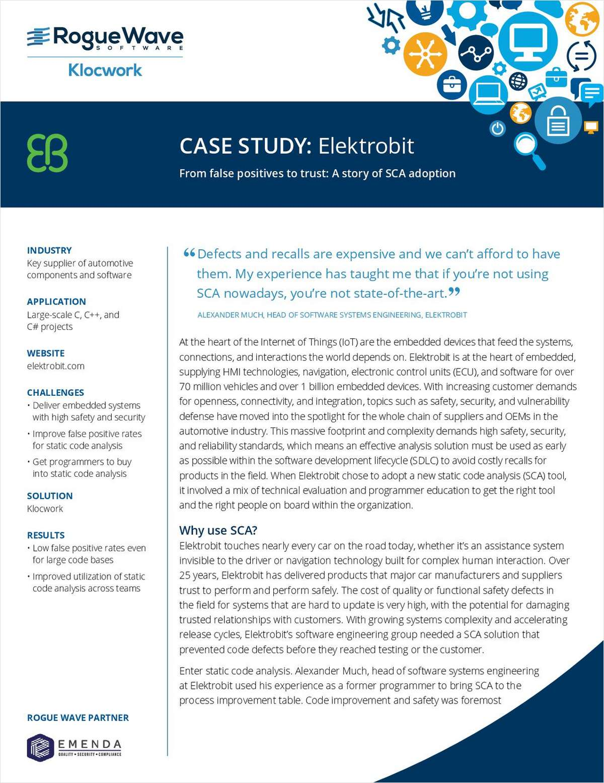 Elektrobit Case Study: A Story of Success with Static Code Analysis