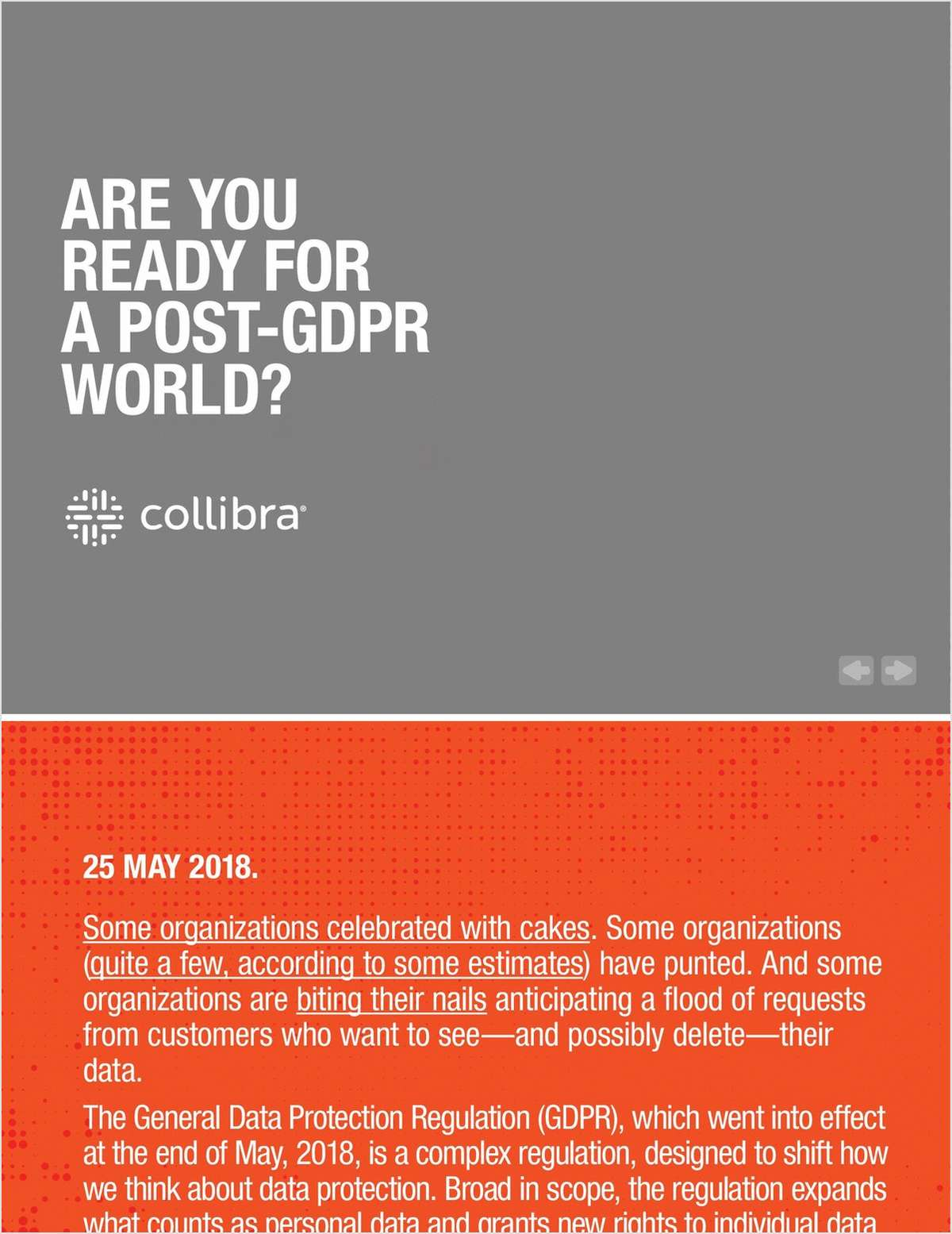 Are You Ready for a Post-GDPR World?