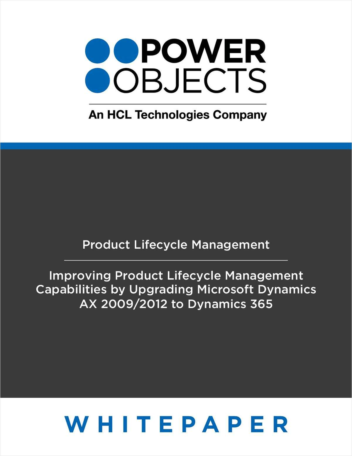 Improving Product Lifecycle Management Capabilities - Upgrading Microsoft Dynamics AX 2009/2012 to Dynamics 365