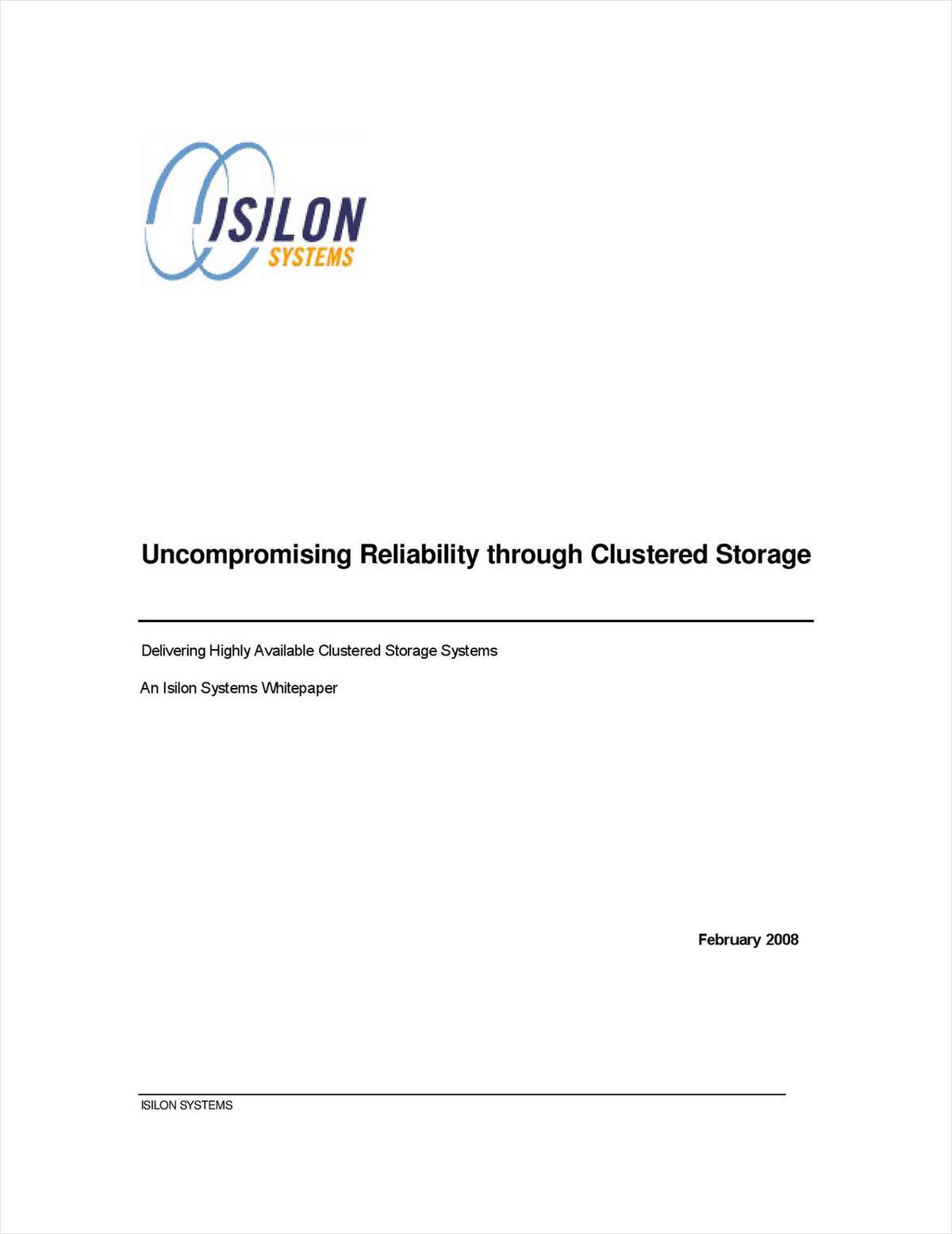 Uncompromising Reliability Through Isilon Scale-out Storage