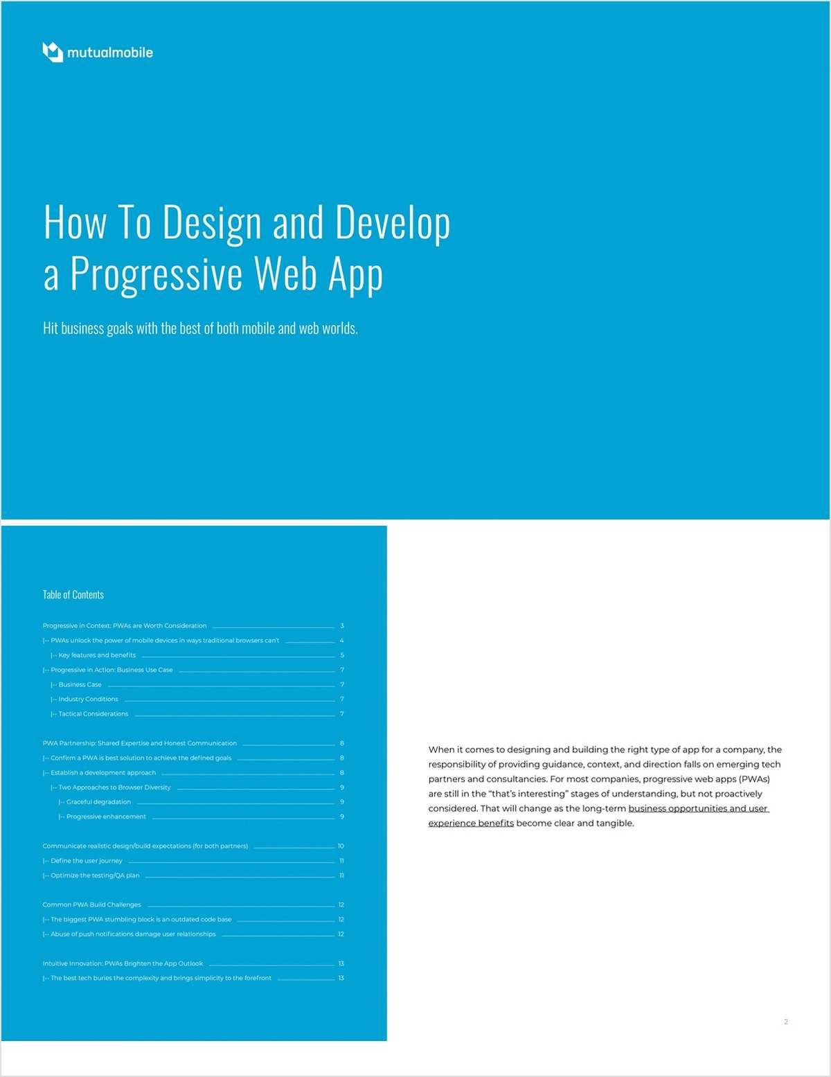How To Design and Develop a Progressive Web App