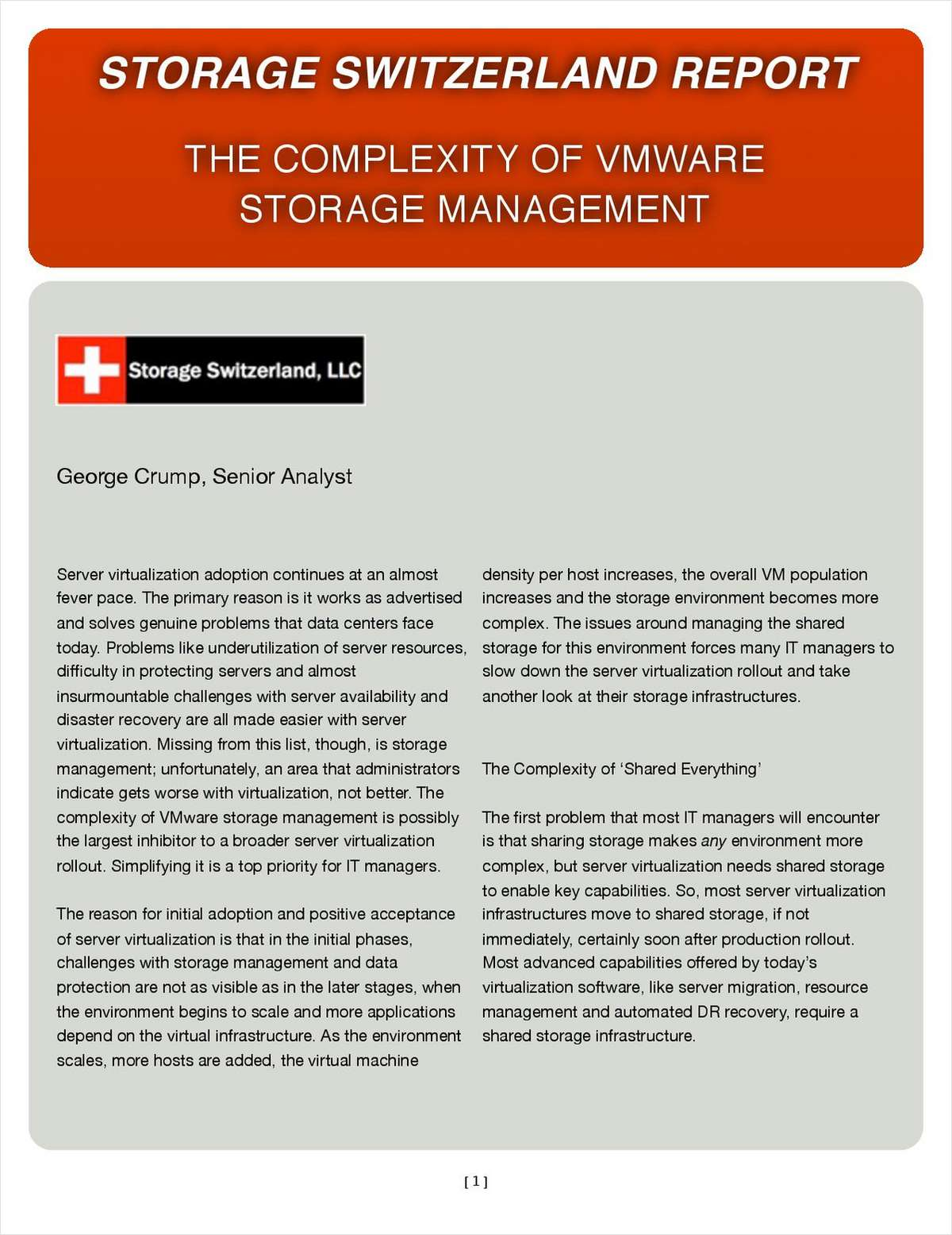 The Complexity of VMware Storage Management