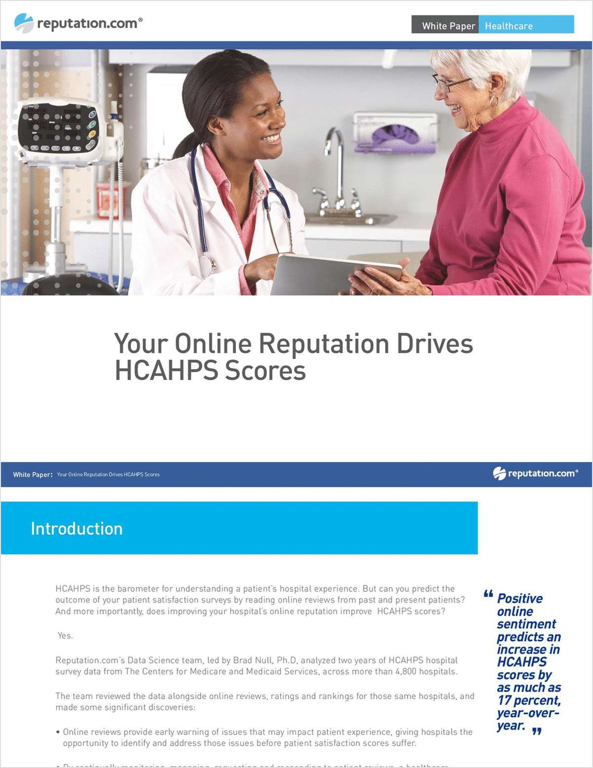 Your Online Reputation Drives HCAHPS Scores