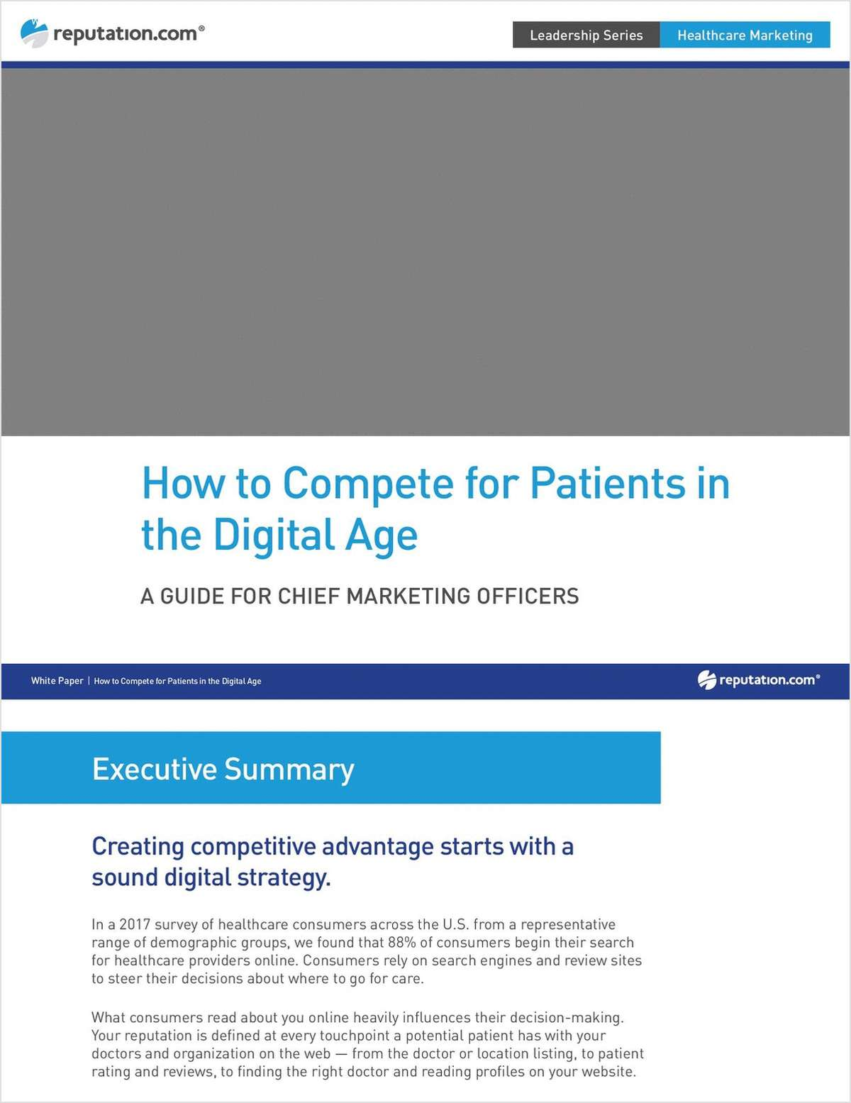 How to Compete for Patients in the Digital Age