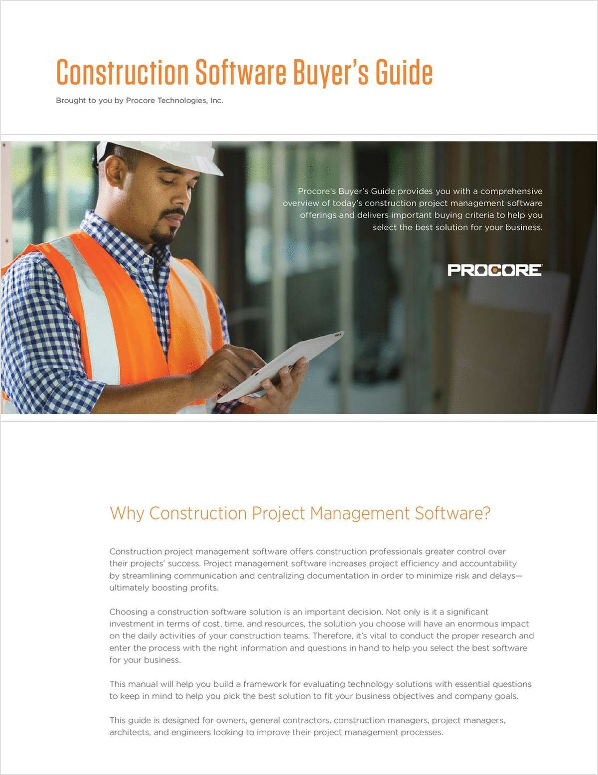 Construction Software Buyer's Guide