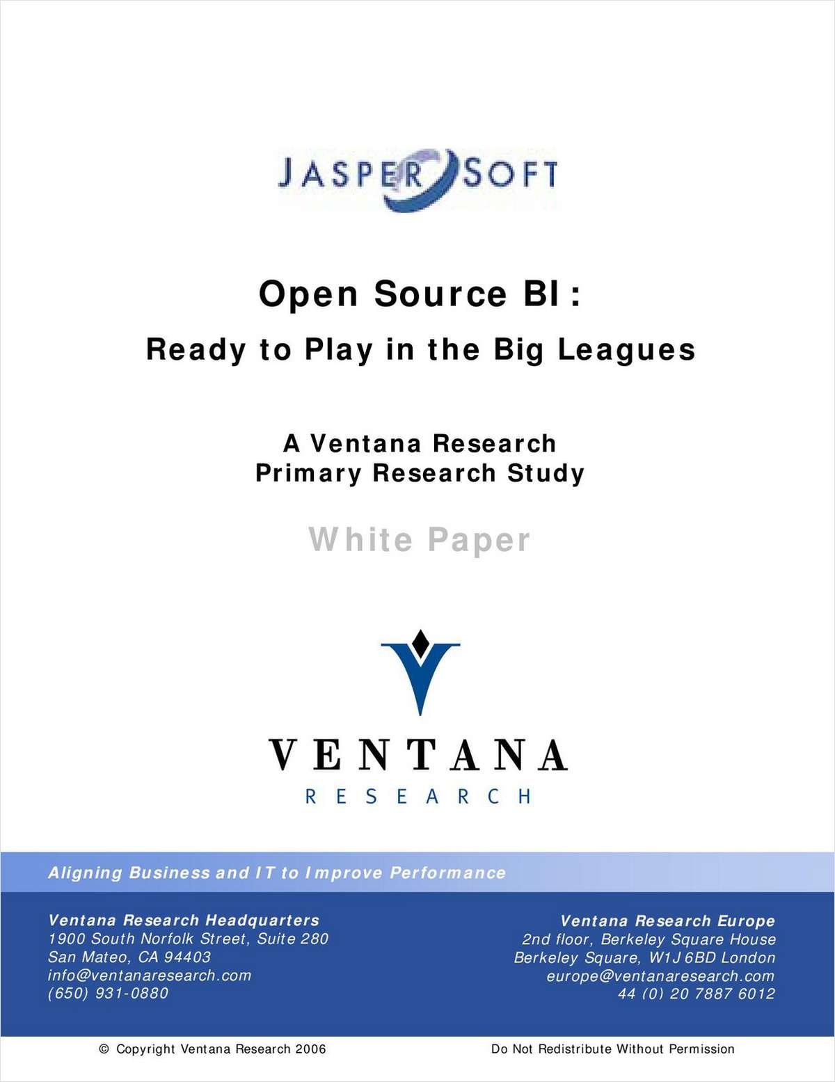 Open Source Business Intelligence: Ready to Play in the Big Leagues