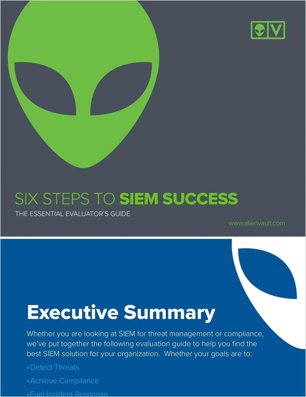 6 Steps to SIEM Success